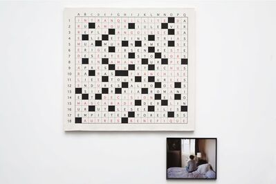Sophie Calle, 'Take care of yourself. Crossword puzzle writer, Catherine Carone / Prenez soin de vous. Cruciverbiste, Catherine Carone', 2007