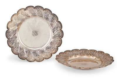 S. Kirk & Son, 'Pair Of S. Kirk & Son Sterling Silver Chargers', late 19th c.