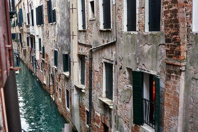 Gail Albert Halaban, 'Red Dress, across the canal, San Marco, Venice, October', 2017