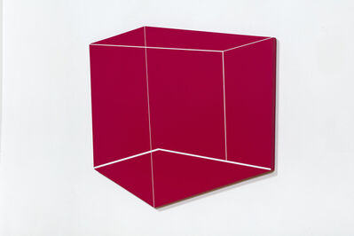 Katja PÁL, 'White cube on a red wall', 2018