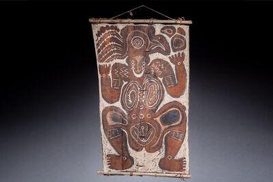 Oceanic Art, 'New Guinea Bark Painting, Keram River area, New Guinea Art, Oceanic Art, Tribal Art, South Pacific', mid 20th century
