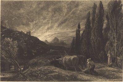 Samuel Palmer, 'The Early Ploughman', ca. 1860