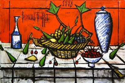 Bernard Buffet, 'Nature Morte au fond Rouge', 1998