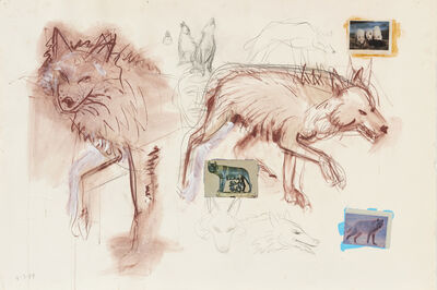 Robert Arneson, 'Wolf Study', 1987