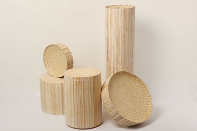 Philippe Malouin, 'Extrusion bowls, stool, high tray, and table', 2012