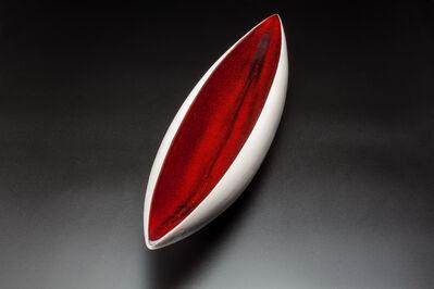 Pol Chambost, 'Canoe shaped bowl', ca. 1950
