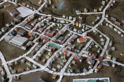 Amy Bennett, 'Artist's Studio View, Mapping out the town before modeling the landscape.'