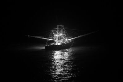 Lou Vest, 'Shrimp Boat at Night', ca. 2017