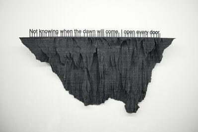 Loris Cecchini, 'Sentimental Seismographies (E. Dickinson)', 2014