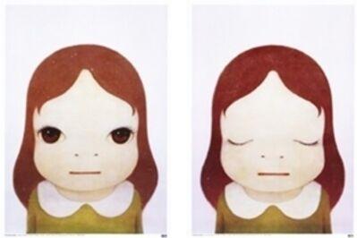 Yoshitomo Nara, 'Cosmic Girls (Open Eyes / Closed Eyes) set of two', 2008