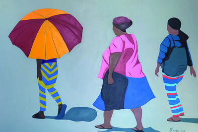 Shakes Tembani, '3 Ladies and the umbrella', 2019