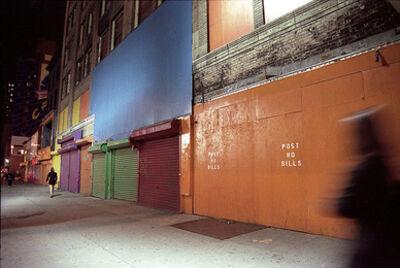 Lynn Saville, 'Post No Bills (Times Square)', 1995