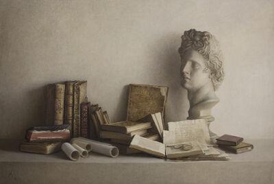 Guillermo Muñoz Vera, 'Libros antiguos y escayola II', 2003