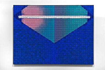 Rachel Lachowicz, 'Corner Convergence Firing Blue, Pink and Green', 2010