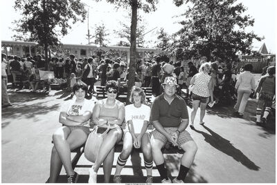Bill Owens, 'Untitled (Family on a park bench)', circa 1978