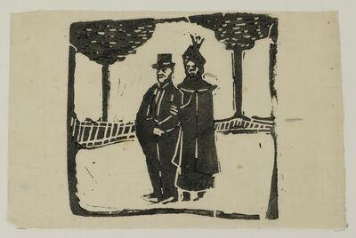 August Macke, 'Älteres Paar (Elderly Couple)', 1909