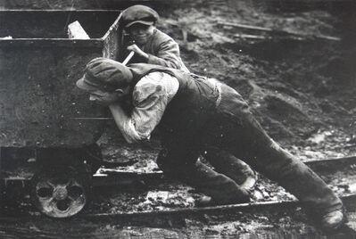 Martin Munkacsi, 'Untitled (Young Boys Pushing Mine Trolley)', unknow