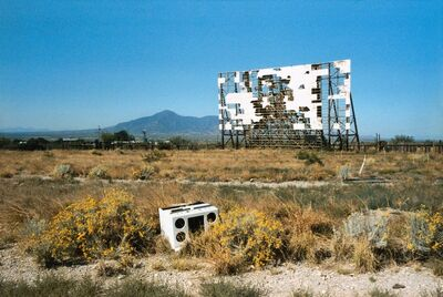Wim Wenders, '»Abandoned Drive-in, Texas, 1983«', 2018