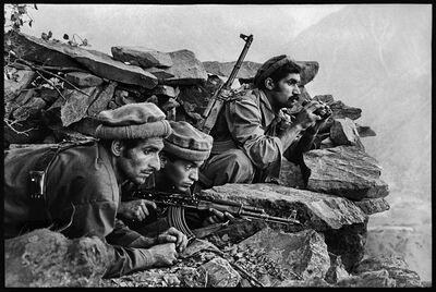 Steve McCurry, 'Mujahideen Fighters Watch Convoy, Nuristan, Afghanistan', 1979