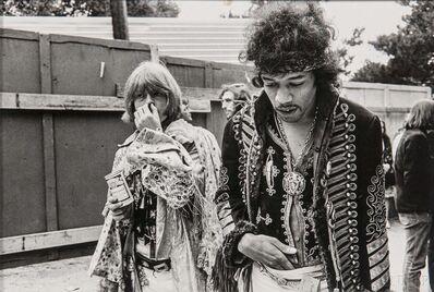 Jim Marshall, 'Jimi Hendrix and Brian Jones, Monterey Pop Festival'