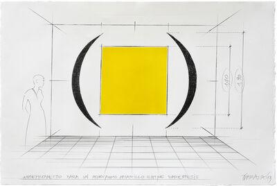 Horacio Zabala, 'Anteproyecto para monocromos entre paréntesis', 2013