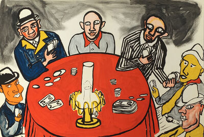 Alexander Calder, 'Calder Card Players Lithograph (Derriere Le Miroir)', 1975