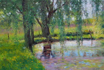 Thomas McNickle, 'WILLOW POND IN SHADE', 2020