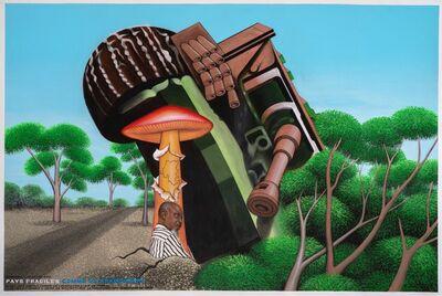 Chéri Samba, 'Pays fragile comme un champignon', 2020