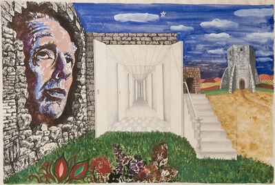 """Antonio Berni, 'Sin Título (Ilustración original del libro """"La Moneda de Hierro"""", de Jorge Luis Borges, 1976, buenos Aires, Ed. Empecé)', 1976"""