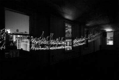 Erich Hartmann, 'Laser light in New York city', 1978