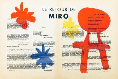 Joan Miró, 'From 'Derrière le Miroir - Miró'', 1948