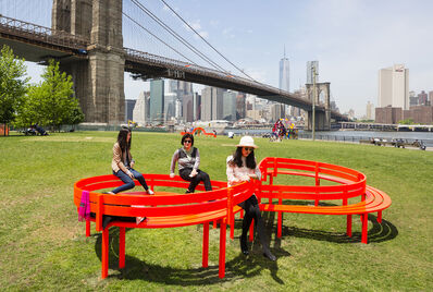 Jeppe Hein, 'Modified Social Bench NY #6', 2015