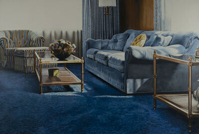 Jack Mendenhall, 'Blue Couch and Chair with Flowers', 1974