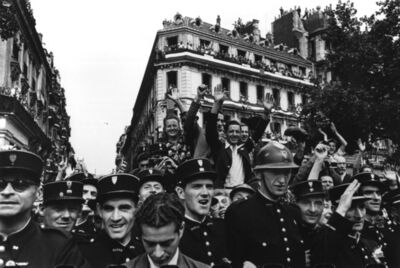 Robert Capa, 'Crowds fill up the Champs Elysees on the 26th August 1944 to celebrate the liberation of Paris.', 1944