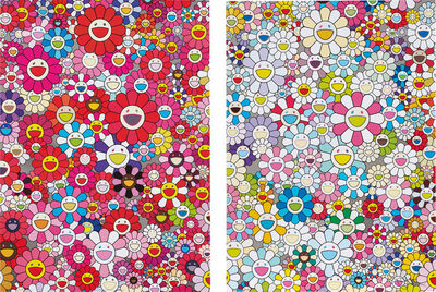 Takashi Murakami, 'An Homage to Yves Klein, Multicolor C; and An Homage to Monopink 1960 C', 2012
