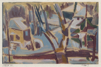 Werner Drewes, 'Old Garden in Clayton', 1955
