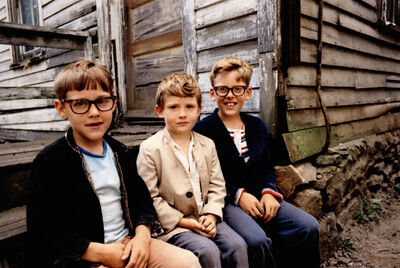 Mark Cohen, 'Three Boys Posing, Wilkes-Barre, PA', 1975