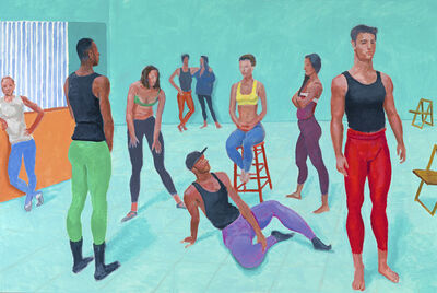 David Hockney, 'The group XI, 7-11 July 2014', 2014