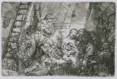 Rembrandt van Rijn and Studio of Rembrandt van Rijn, 'The Circumcision in the Stable', 1654
