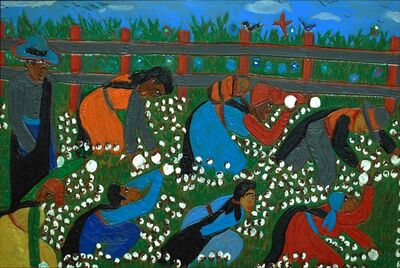 Winfred Rembert, 'Blue Skies and Flowers (A Cotton Field)', 2013