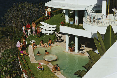 Slim Aarons, 'Clifftop Pool, Barranca (Slim Aarons Estate Edition)', 1971