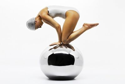 Carole A. Feuerman, 'Miniature Quan with Pearl White Suit 3/28 - hyperrealism, female resin sculpture', 2021