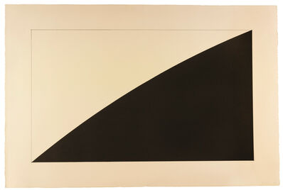 Ellsworth Kelly, 'Black Curve (Radius 12')', 1976