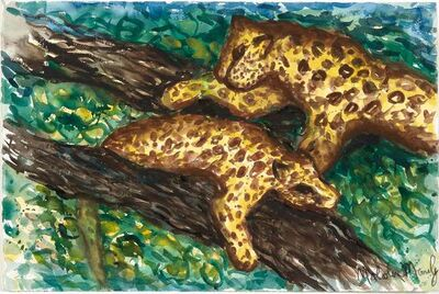 Malcolm Morley, 'Untitled, Two Leopards', 1983