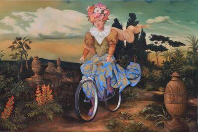 Hector Armendariz, 'Mujer Paseando en Bicileta'