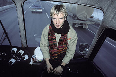 Lynn Goldsmith, 'Sting - On a Bus'