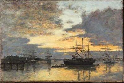 Eugène Boudin, 'Bordeaux, In the Harbor', 1880