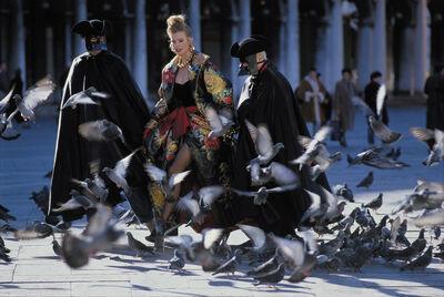 Jean-Daniel Lorieux, 'Claudia Schiffer, fashion by Leonard, place saint Marc, Venise', 1996