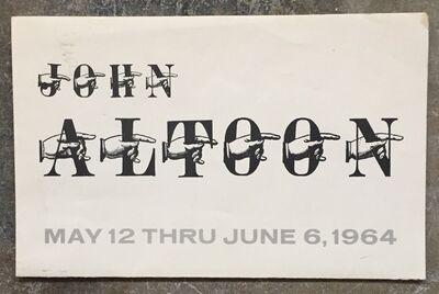John Altoon, 'Exhibition Mailer', 1964