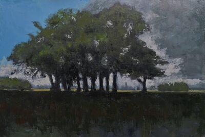 Albert Hadjiganev, 'Groupe d'arbres dans la plaine',
